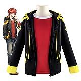 ATYMD Mystic Messenger Limit 707 Cosplay Costume Hooded Zipper Jacket +T-Shirt 2-Piece Set,XXL