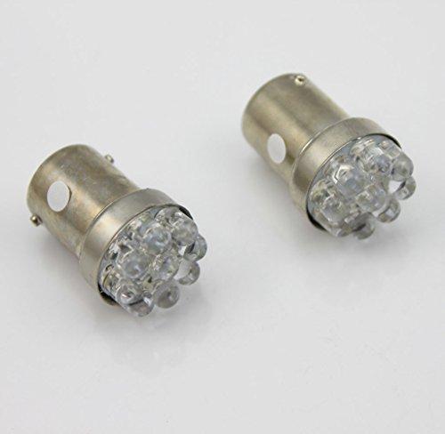 Lot de 4 ampoules 6 V 1156 ba15s 382 9 LED SMD blanc chaud/blanc/rouge pour feux de freinage/clignotant/arrière/feu de recul (blanc)