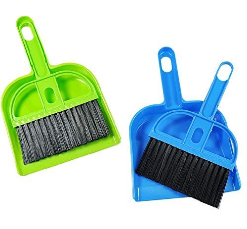 Weilifang GFCGFGDRG Barrido de plástico Mini Escritorio Cepillo de Limpieza del Teclado de Ordenador Pequeña Escoba recogedor Conjunto Color al Azar