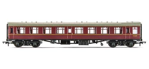Hornby OO Gauge 270mm Railroad BR Mk1 Corridor Second Coach Model (Maroon)