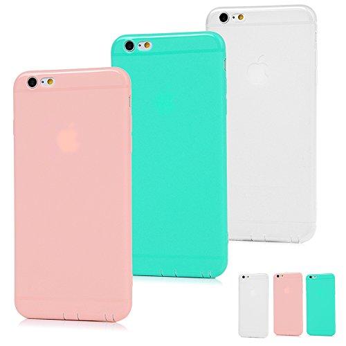 Générique Coque iPhone 6 Plus (iPhone 6S Plus Etui x 3 TPU Silicone Mate Cover Couleur Pure Ultra Léger Ultra Souple Flexible de Protection de Téléphone Case pour 5.5 Pouces - Belle Combinaison 3