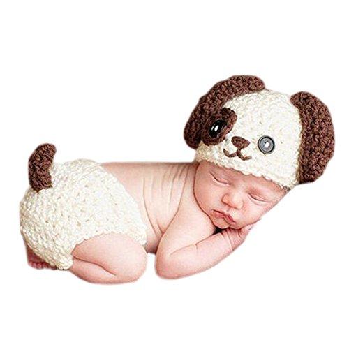 DELEY Bébé Mignon Crochet Kniting Animaux de Dessin animé Chien Bébé Photographie Les Accessoires Costume Tenues de 0 à 6 Mois