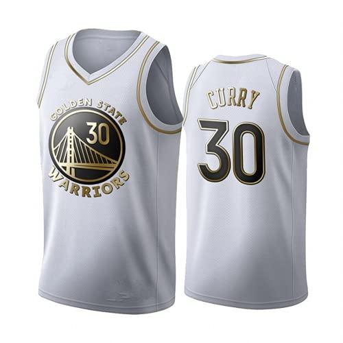 Golden State Warriors Stephen Curry # 30 Uniforme De Baloncesto Para Hombres, Ropa Deportiva De Tela Fresca Y Transpirable, Camiseta Sin Mangas,El Mejor Regalo Para Los FanáTicos Leales