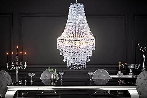 Große XL Design Hängelampe ROYAL Kristall Strass Kronleuchter Lampe Hängeleuchte Lüster klar Acrylglas - 2