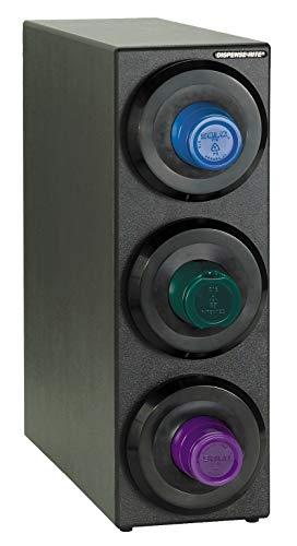Dispense-Rite SLR-S-3BT Countertop Cup Dispensing Cabinet with (3) SLR-2F, Black Polystyrene