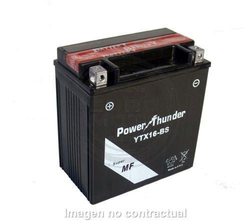Power Thunder - Batería YTX16-BS [0616801P]