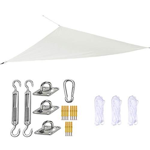 Toldo para toldo con protección Solar y Bloqueador UV Impermeable, 3M X4 MX 5M, con Kit de fijación, para Patio al Aire Libre y Patio Trasero(Color:E)