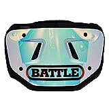 Battle Sports Iridescent Chrome Football Back Plate - Youth/Kids