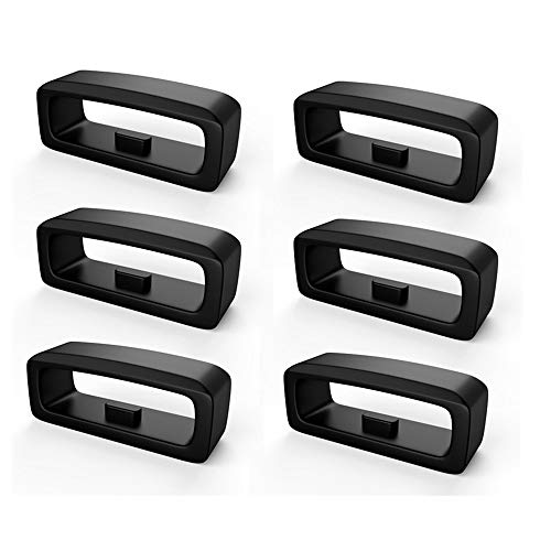 Verschlussring für Fenix 5 / Fenix5 Plus,Colorful 6-Pack Uhrenarmbänder Silikon Sichere Schleife für Fenix 5 / Fenix5 Plus/Forerunner 235/Forerunner 630/Forerunner 735XT Armband Zubehör