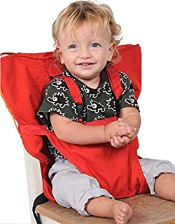 Portable Baby Chair Car Seat Safety Belt Travel Harness Fastener Dining Eat Feeding Belt Red