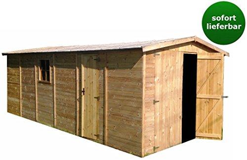 *Holzgarage Blockbohlen 19 mm M102 – H222xL616xB324*