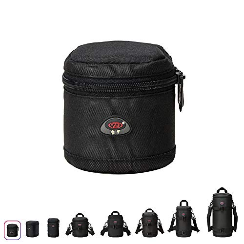 Lens Case Pouch for Canon EF 28mm f1.8/EF 24mm f/2.8EF 50mm F/1.8Ⅱ,Nikon 35mm f1.8G/50mm f/1.8D/50mm f1.8/G50mm f/1.4 and Other Lens