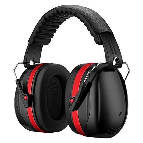 Kapsel-Gehörschutz Ohrenschützer mit 34dB SNR, lärmschutzkopfhörer erwachsene mit Tragbare Tasche, Faltbar Kopfhörer für Holzbearbeit, Gartenarbeit, Rasenmähen