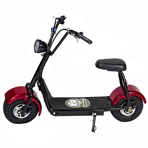 CityCoco MINI 1000W/48V/12aH/Litio Rojo Gran-Scooter
