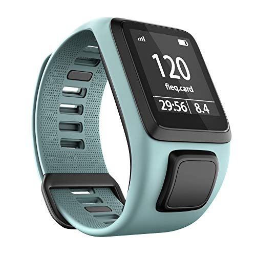 ANBEST Kompatibles mit Tomtom Runner 3 Armband, Umweltschutz TPU Band für Tomtom Spark 3, Runner 2, Golfer 2, Adventurer Smart Watches(Blaugrün)