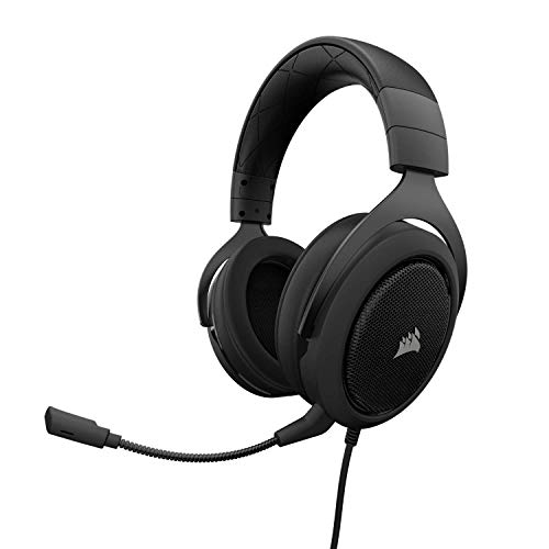 Corsair HS60 – 7.1 Virtual Surround Sound PC Gaming Headset w/USB DAC - Discord Certified Headphones – Compatible with Xbox One, PS4, and Nintendo Switch – Carbon Alabama