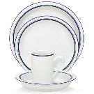 Dansk Dinnerware, Christianshavn Blue, 4-Piece Place Setting - Dinnerware - Dining & Entertaining - Macy's