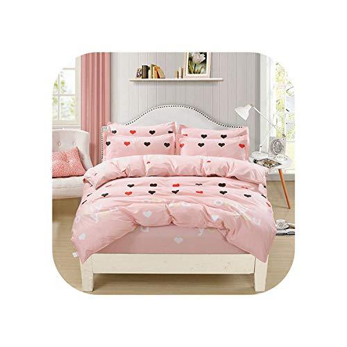 Fogli traspiranti |Set di biancheria da letto in cotone a righe I set da letto in stile moderno a righe includono un copripiumino doppio completo lenzuolo con angoli Federa da letto 12-135x200 cm