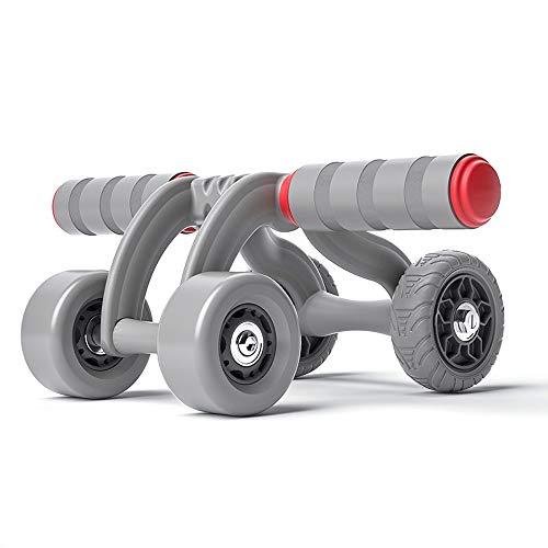 Zhongxingenggeng Bauchrad-Bauchmuskeltrainer Roller PVC-Reifenaußenring | Stabiler Und Leiser Allradbetrieb Starker Rückprall | Schaumstoffgriff