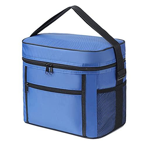 Naisde Picknick-Tasche Tragbare Oxford-Tuch Cool Lunch Aufbewahrungstasche Faltbare Tasche mit großer Kapazität Roter Picknick-Grill