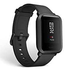 45 Days Battery Life: Equipped with a lithium polymer battery with a 190mAh charge, you can use the Amazfit Bip up to 30 days on a single 2.5-hour charge Lightweight and Thin: Amazfit Bip only weight about 32g with the watch band and is 11.5mm in thi...