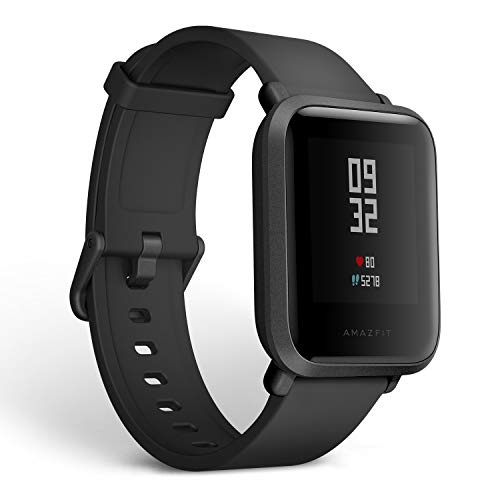Amazfit Bip Smartwatch by Huami with All-Day Heart Rate and Activity Tracking, Sleep Monitoring, GPS, Ultra-Long Battery Life, Bluetooth, US...