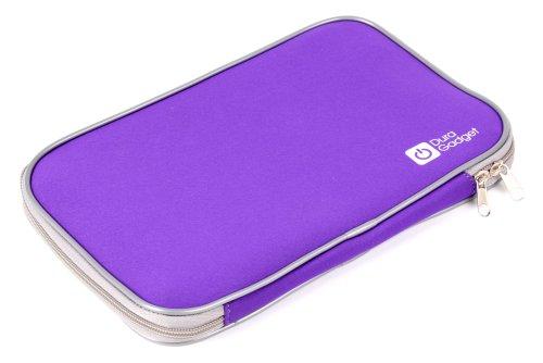 """DURAGADGET Pochette Housse Violette de Transport résistant à l'eau - Fermeture éclair - pour tablettes tactiles Auchan QILIVE 9.7 B600121 & 9.7R B600122 (Android 4.1.2, écran 9,7"""")"""