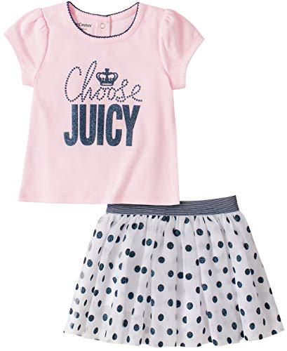 Juicy Couture Baby Girls' 2 Pieces Scooter Set, Pink/Navy, 0-3 Months