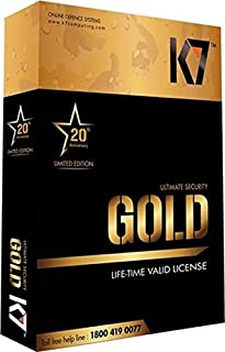 K7 Gold Lifetime Ransomware & Internet Security - 1 PC (DVD)