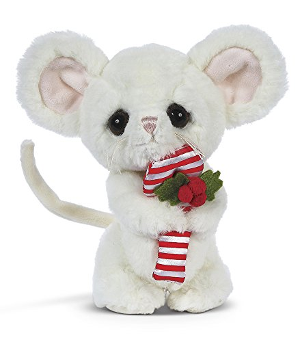 Bearington Big Head Pip Christmas Plush Stuffed Animal Mouse, 8 inches