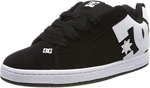 DC Shoes Herren Court Graffik Skateboardschuhe, Schwarz (Black 001), 53.5 EU
