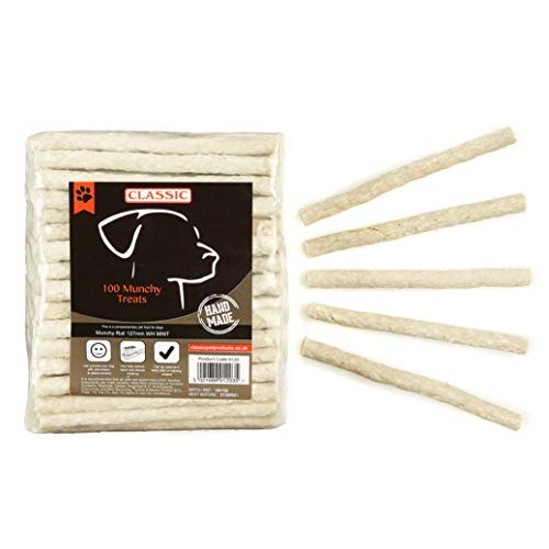 Classic for Dogs Munchy Rolle, weiß / Minze, 125 x 9 - 10 mm Pack of 100