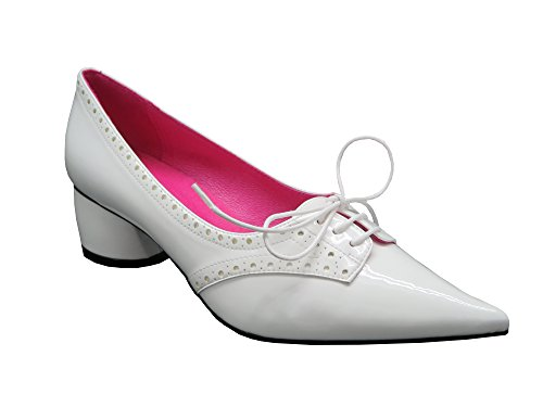 Buffalo London 11167-233 PU PATENT 145553 Damen Pumps, weiß (White), EU 38