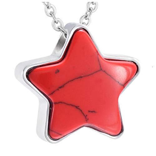 Wxcvz Collar para Cenizas Star Funeral Cremation Collar Y Colgante Memorial Cenizas Titular Urna Mascota/Adulto Memorial Estrella Colgante para Cenizas