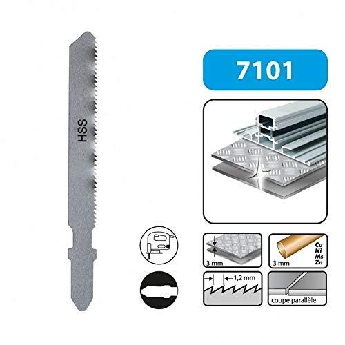 LEMAN 710105 - Blister 5 hojas de sierra de calar metal 55 mmx1.2 hss