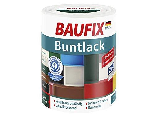 Buntlack Weißlack 2in1 Lack & Grundierung Seidenmatt 1 Liter (grün)