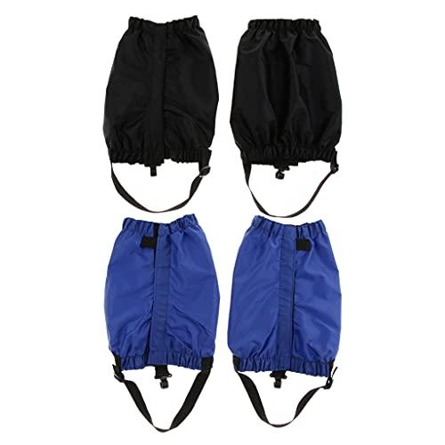 Almencla 2pairs Outdoor Waterproof Snow Leg Gaiters Hiking Walking Climbing Hunting Leggings Cover Protector for Men and Women
