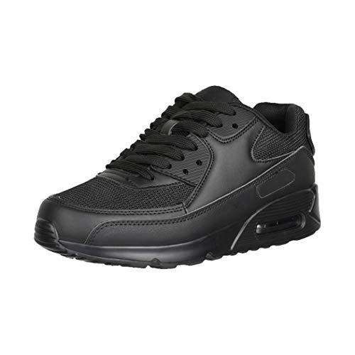 Elara Damen Herren Sneaker Sport Laufschuhe Turnschuhe Chunkyrayan 0590 Black-39