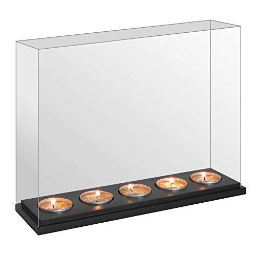 Tealight Infinity Candle Mirror Box | Decorative Optical Illusion Mirror | Dark Glass Magic Effect | Perfect Gift | M&W