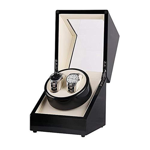 WXDP Enrollador de Reloj automático,de Madera con Motores, con Corriente alterna o con Pilas, Cajas de Almacenamiento (Color: B)