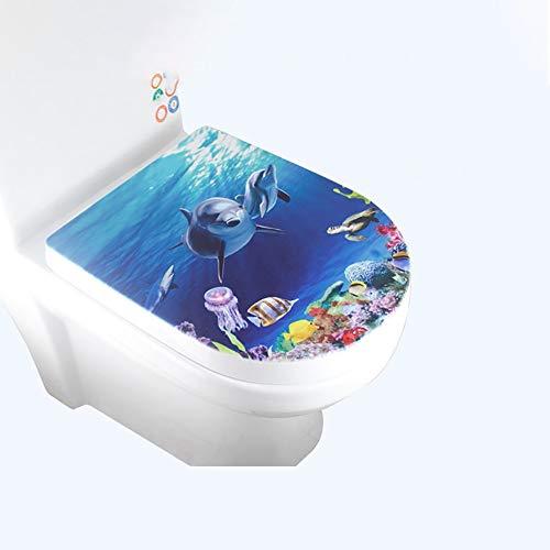 Lin-Yo WC Sitz mit Absenkautomatik,Toilettendeckel Hochwertige Toilettensitze aus PP-Material Innovativer antibakterieller Super-Schnellverschluss für Familienbadezimmer,3D-Druckeffekt