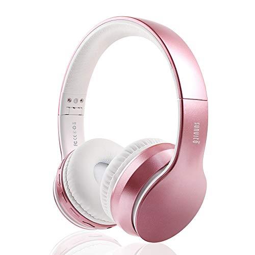 Cuffie Bluetooth 5.0 Senza Fili, Sunvito pieghevoli Auricolari con Mic, Lettore MP3, FM, Wireless e Cablate, cuffie auricolari wireless bluetooth over ear