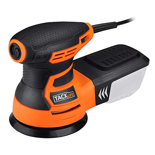 TACKLIFE 5-Inch Random Orbit Sander 3.0A with 12Pcs Sandpapers, 6 Variable Speed 13000RPM Electric Sander, High Performance Dust Collection System, Sander for Woodworking - PRS01A