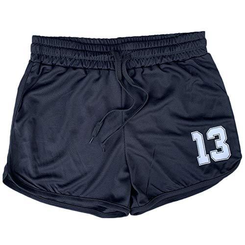 Pantalones Cortos de Malla para Hombre Verano Moda Estampado Transpirable Secado rápido Al Aire Libre Fitness Pantalones Cortos de Entrenamiento en Cuclillas con cordón XXL