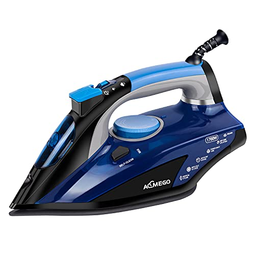 AEMEGO 1700W Steam Iron for Clothes Portable Anti Drip Clothes Iron...
