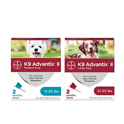 K9 Advantix II Flea and Tick Prevention for Dogs, 2-Pack Bundle for Medium and Large Dogs - Buy Together and Save