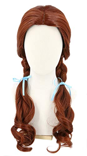 Topcosplay Dorothy Wig Women Brown Long with Braids Cosplay Halloween Costume Wigs (Adults)