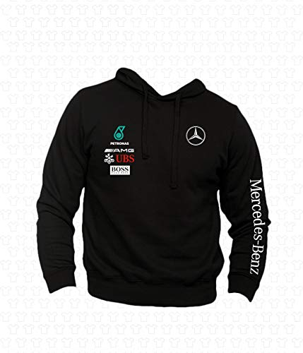 Mercedes Benz AMG Zip Kapuzenpullover GESTICKTE Logo Herren Hoodie Sweatshirt