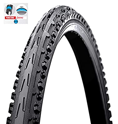 """BIRIA Tire Bicycle, Street 26"""" X 2.0 (Inch) Puncture Resistant 5mm, Puncture Guard, Thorn Resistant, Cross Thread Comfortable Ride, GIB 80"""