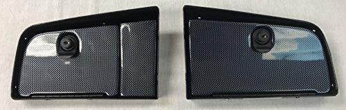 Global Material Technologies Star Car and Equivelent EZ Install Golf Cart Locking Glove Box Door Set in Carbon Fiber
